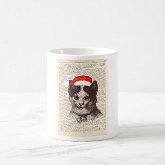 Santa Claus cat -Mug