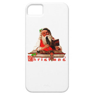 Santa Claus Checking His List iPhone 5 Cover