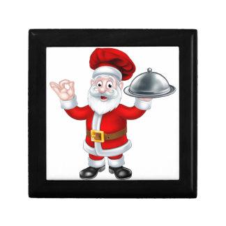 Santa Claus Chef Christmas Cartoon Character Small Square Gift Box