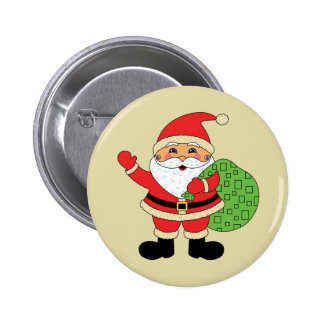 Santa Claus Christmas 6 Cm Round Badge