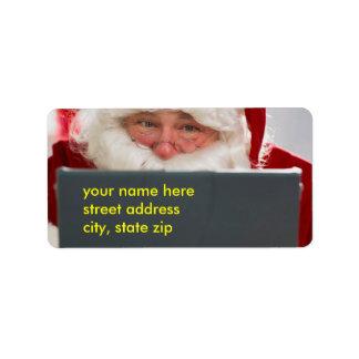 Santa claus labels amp address return address labels zazzle co uk