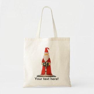 Santa Claus Christmas candle decoration Bag