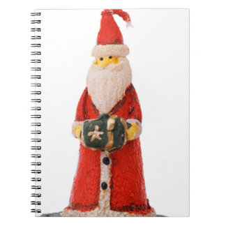 Santa Claus Christmas candle decoration Spiral Note Books