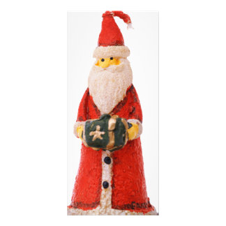Santa Claus Christmas candle decoration Full Color Rack Card