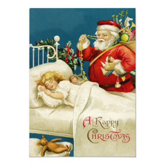 Santa Claus Christmas Card Personalized Announcements