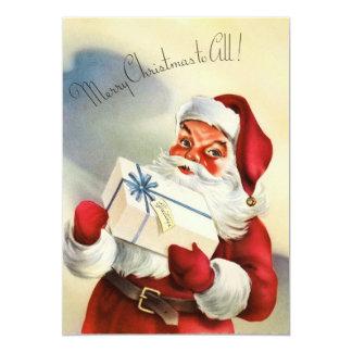 Santa Claus Christmas Card 13 Cm X 18 Cm Invitation Card