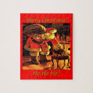 Santa Claus Christmas Cat Puzzle