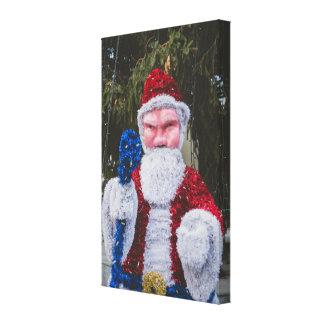 Santa Claus Christmas decoration Stretched Canvas Prints