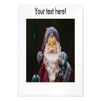 Santa Claus Christmas decoration Magnetic Invitations