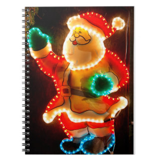 Santa Claus Christmas decoration with lights Note Books