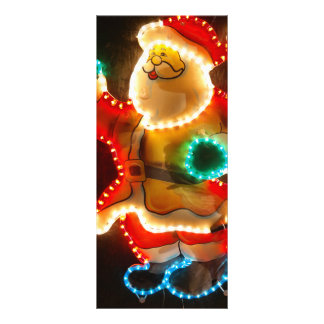 Santa Claus Christmas decoration with lights Customized Rack Card