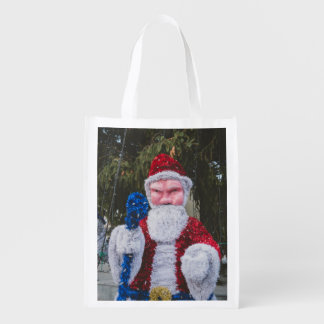 Santa Claus Christmas decoration Reusable Grocery Bag