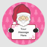 Santa Claus Christmas Gift Tag Sticker