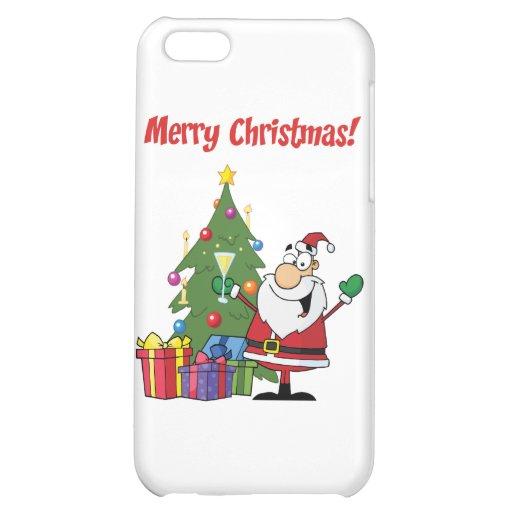 Santa Claus Christmas Greetings iPhone 5C Cases