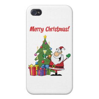 Santa Claus Christmas Greetings iPhone 4 Cases