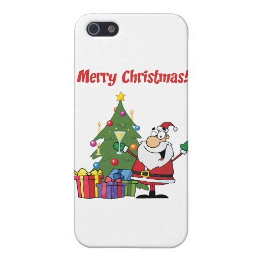 Santa Claus Christmas Greetings Covers For iPhone 5