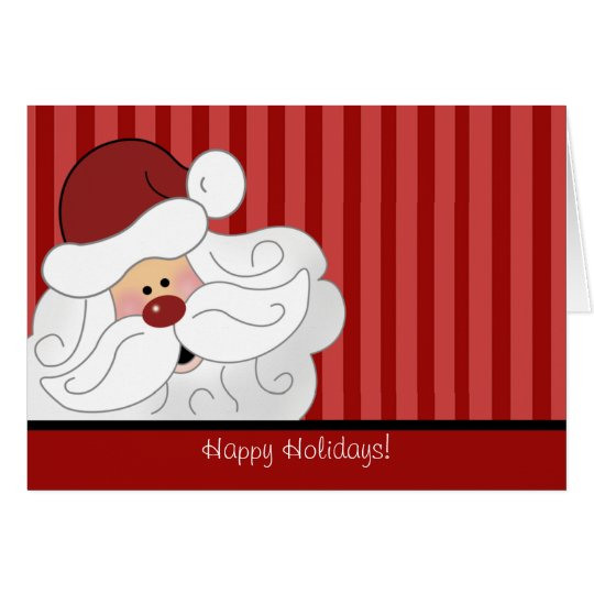 SANTA CLAUS Christmas Holiday Folded Card