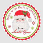 Santa Claus Christmas Holiday Stickers