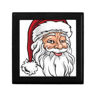 Santa Claus Christmas Illustration Small Square Gift Box