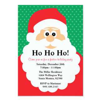 Santa Claus Christmas Party Invitation
