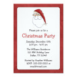"Santa Claus Christmas Party Invitations 5"" X 7"" Invitation Card"