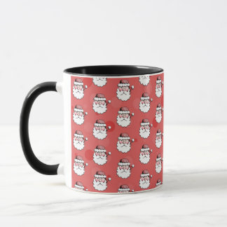 Santa Claus Christmas Print Coffee Mug Red