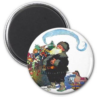 santa-claus-clip-art-4 6 cm round magnet