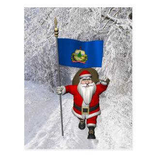 Santa Claus Comes To Vermont Postcard