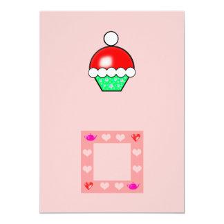 santa claus cupcake invitation