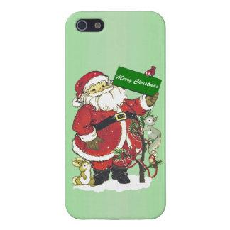 Santa Claus Cute Animals Merry Christmas iPhone 5 Cases