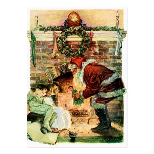 Santa Claus Delivering Presents Business Card Templates