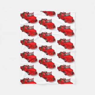Santa Claus Driving A Fire Engine Fleece Blanket