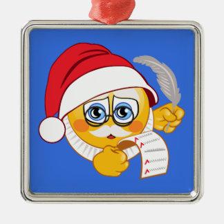 Santa Claus Emoji Christmas Ornament