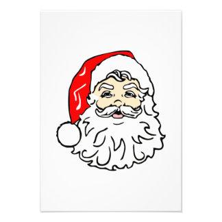 Santa Claus Face Custom Invitation