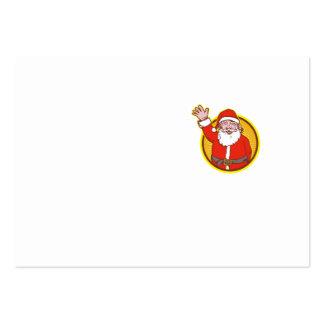 Santa Claus Father Christmas Cartoon Business Cards