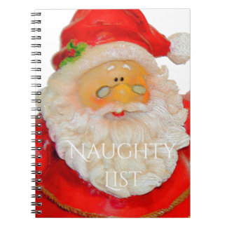 Santa Claus Father Christmas Naughty List Notebook