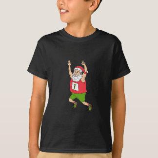Santa Claus Father Christmas Running Marathon Cart T-Shirt