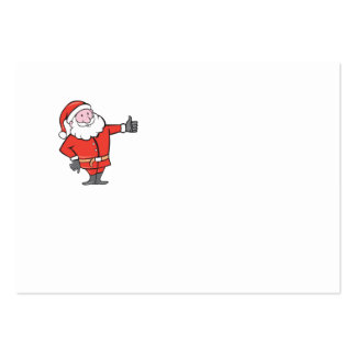 Santa Claus Father Christmas Thumbs Up Cartoon Business Card Template