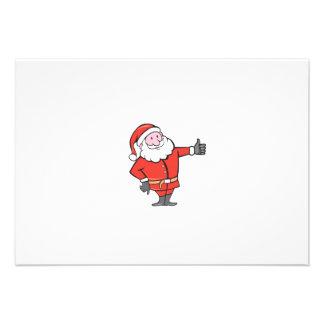 Santa Claus Father Christmas Thumbs Up Cartoon Custom Announcement