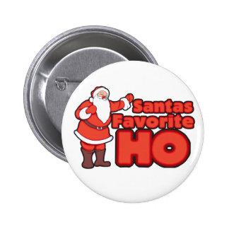 Santa Claus Favorite HO Pinback Button