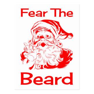 Santa Claus Fear The Beard Funny Postcard