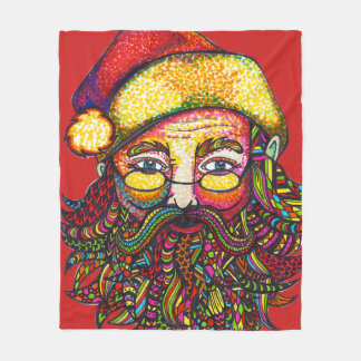 Santa Claus Fleece Blanket