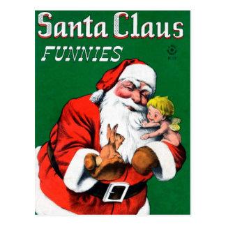 Santa Claus Funnies - Cherub Postcard