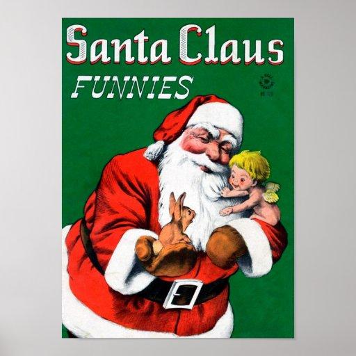 Santa Claus Funnies - Cherub Posters