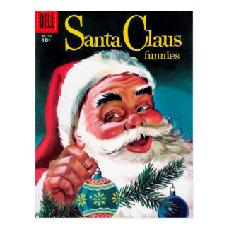 Santa Claus Funnies - Decorating the Tree Postcards