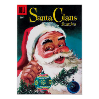 Santa Claus Funnies - Decorating the Tree Posters