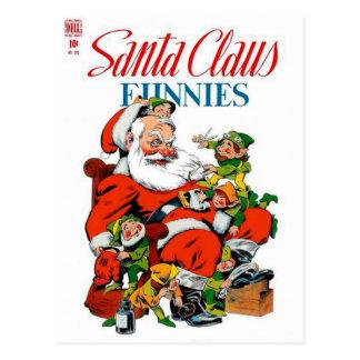 Santa Claus Funnies - Elf Grooming Post Cards