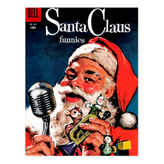 Santa Claus Funnies - On the Radio Post Cards