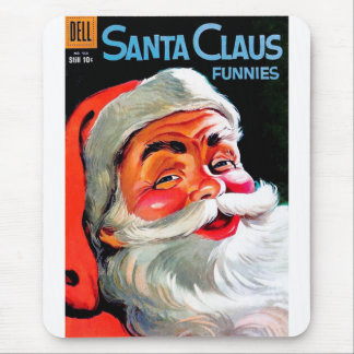 Santa Claus Funnies - Portrait Mouse Pad