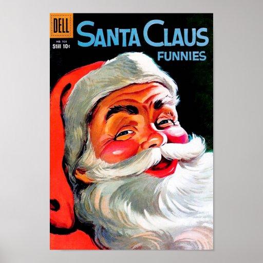 Santa Claus Funnies – Portrait Posters